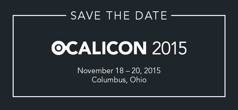 OCALICON 2015 Save the Date