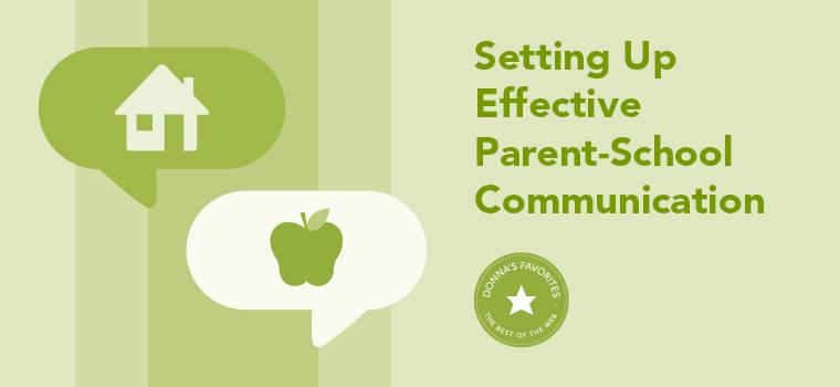 Donna's Favorite: Setting Up Effective Parent-School Communication