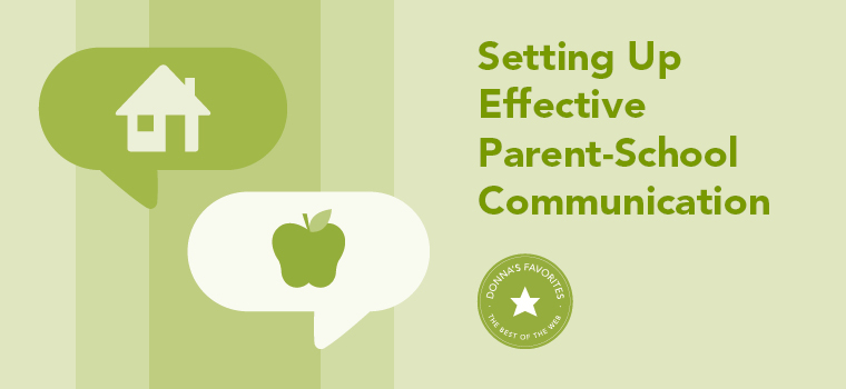 Donna's Favorite: Setting Up Effective Parent-School Communication