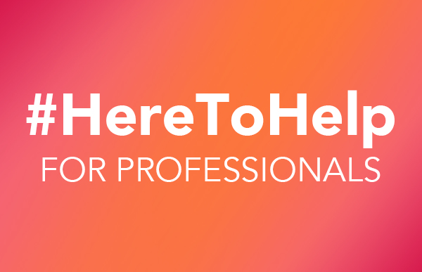 Here to Help Professionals graphic