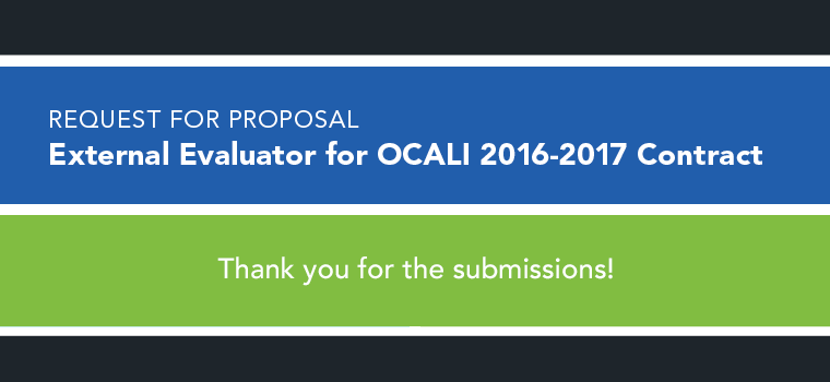 RFP 2016 External Evaluator