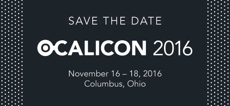 OCALICON 2016 Save the Date