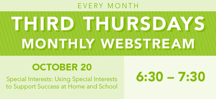 Third Thursday - Special Interests