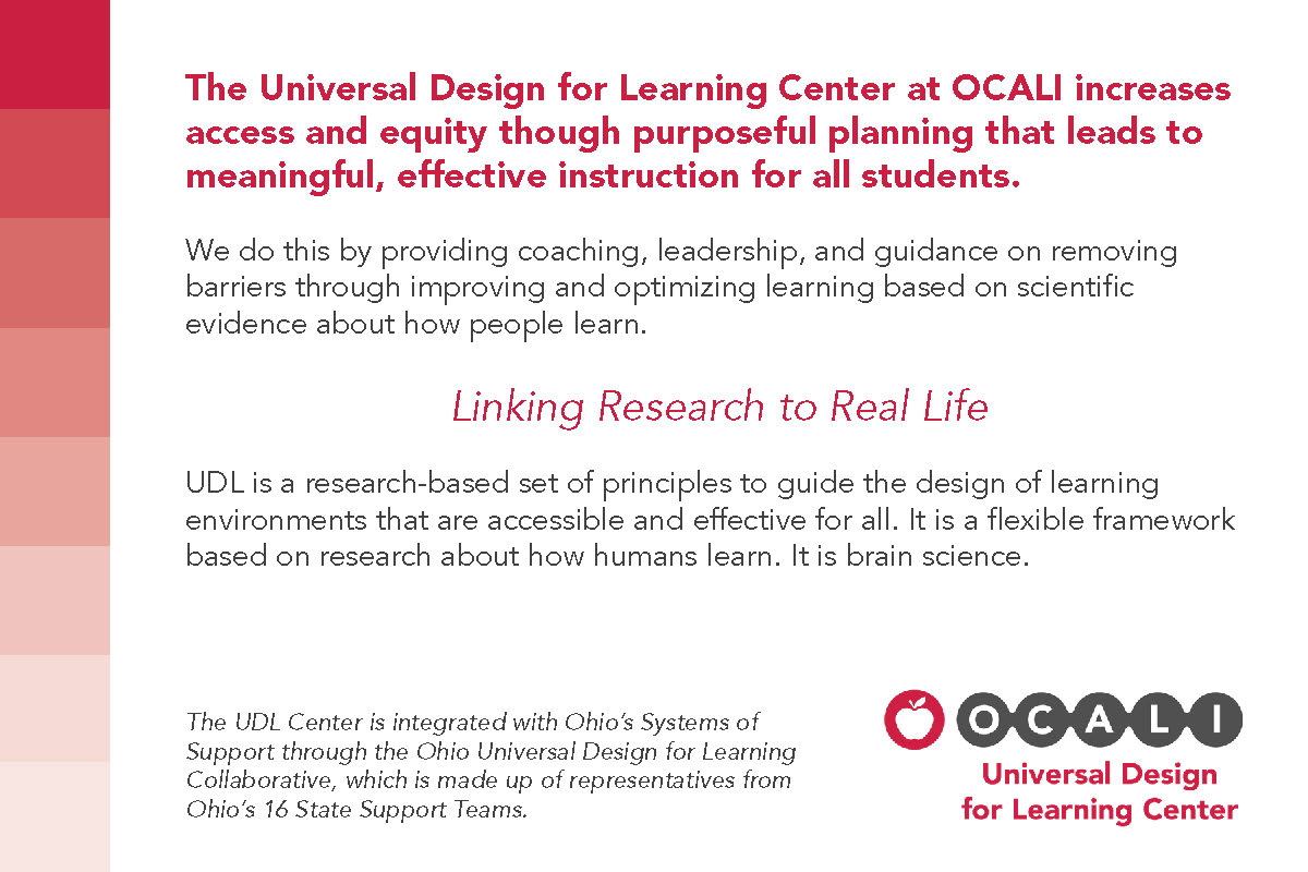 UDL Center Postcard