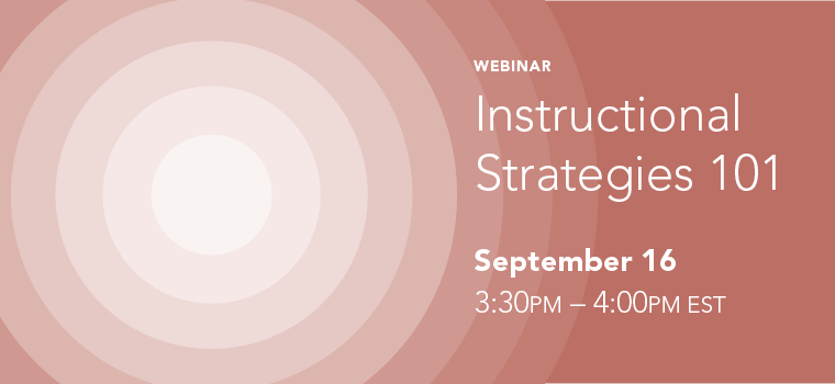 UDL Instructional Strategies 101